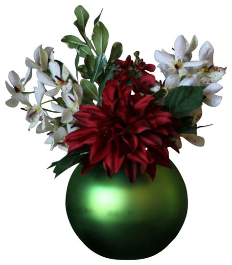 christmas ornament illuminated floral design green