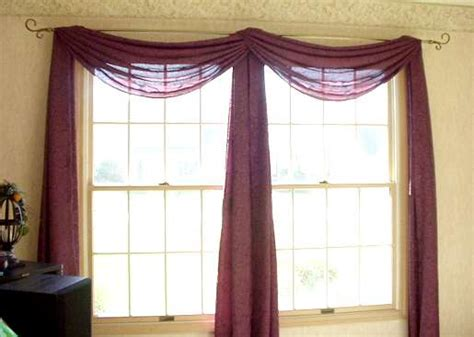 scarf curtains how to hang curtains blinds