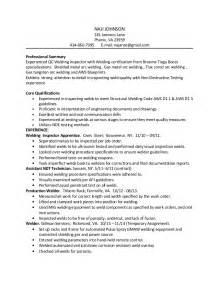 Welding Inspector Resume by Naji Johnson Welding Inspector Resume 1