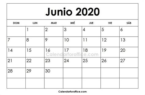 calendario junio imprimir calendar calendar