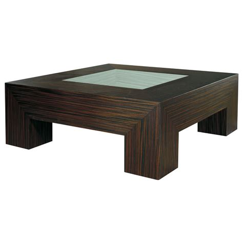 square coffee table with glass insert melrose square cocktail table macassar ebony glass