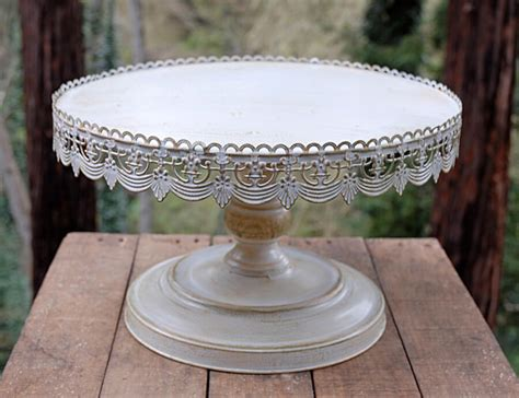 vintage cake stands vintage metal cake stand white 16in