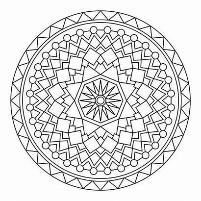 Coloring Zentangle Pages Mandala Mandalas Printable Adult