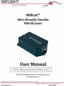 Daylight Solutions D11 00028 02 A Mircat Qt User Manual 171115