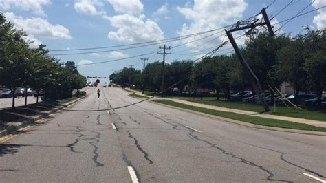 accident   wheeler downs power lines  outage