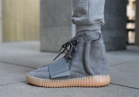 Light Grey adidas Yeezy 750 Boost On Feet   Sneaker Bar