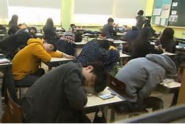Photo  Students in South Korea work extremely hard  sometimes up to 15      Sleeping Student In Class