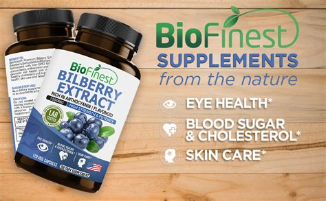 bilberry extract supplement  eyes health