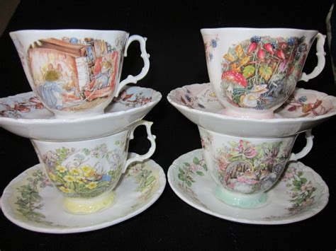 Royal Doulton Geschirr by Royal Doulton Brambly Hedge Set Of Four Seasons