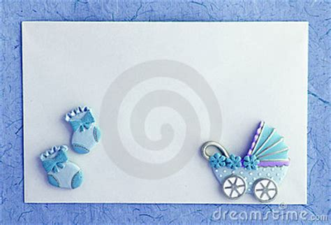 baby boy announcement card royalty  stock images