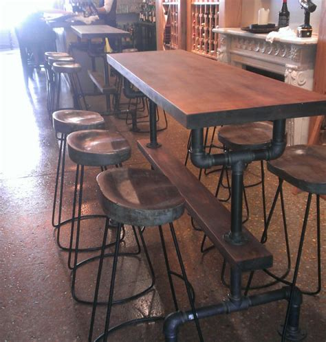 pub height kitchen table industrial farmhouse bar height kitchen table the