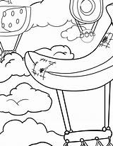 Coloring Waffle Pages Balloon Air Activity Smash Waffles Chicken sketch template