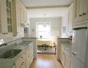 White galley kitchen | White Kitchens, Ivory Kitchens ...