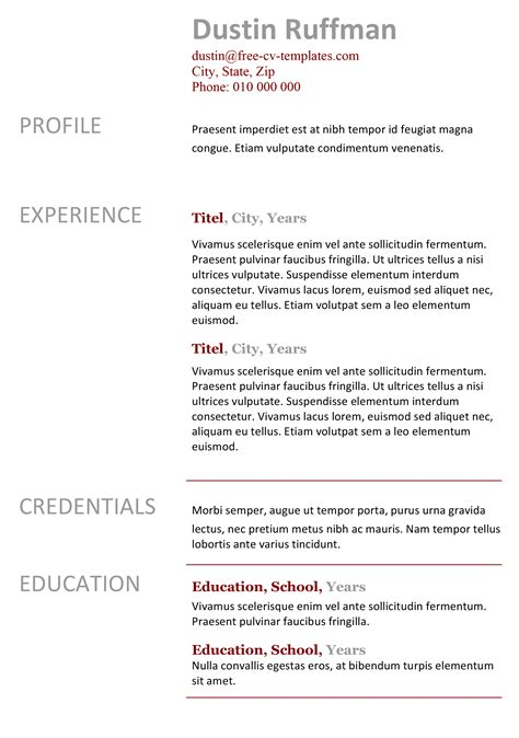 Easy Cv Template by Easy Peasy Free Resume Template Made In Word