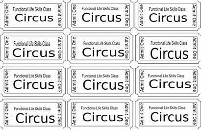 Circus Coloring Tickets Ticket Carnival Printable Clip
