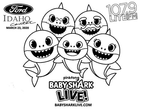Baby Shark Coloring Page childrencoloring us