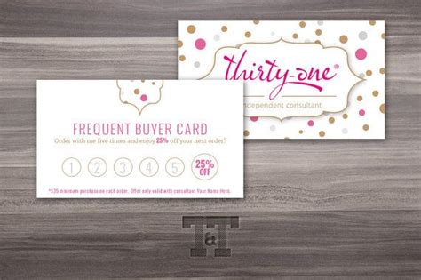 frequent buyer card template 67 best thirty one scentsy business cards images on