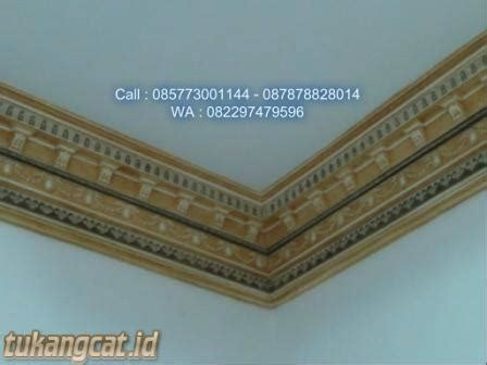 mempercantik lis ornament plafon gypsum  cat wash