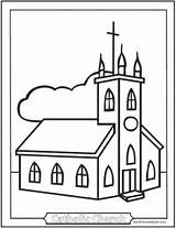 Coloring Church Catholic Pages Sheet Kindergarten Easy Sheets Mass Children Simple Colouring Printable Churches Saintanneshelper Symbols Roman Clipart Religion Clip sketch template