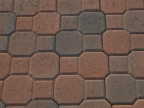 concrete octagon patio pavers rustic contemporary   brick paver patio concrete patio