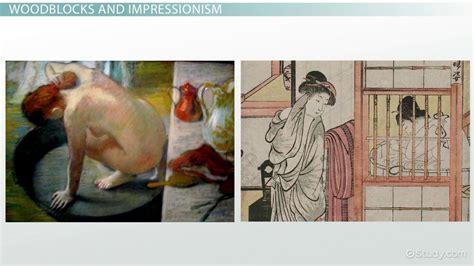 influence  japanese woodblock printing  impressionists