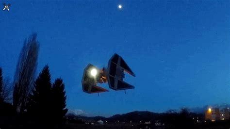 drone lights at night tie interceptor drone lights up the night sky kotaku