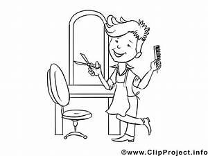Friseur Ausmalbild Arbeitsbltter Und Malvorlagen Berufe