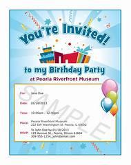 Birthday Party Invitation Sample