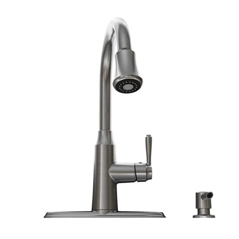 stainless steel kitchen faucet shop standard soltura stainless steel 1 handle