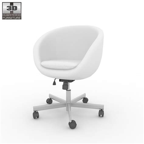 ikea skruvsta swivel chair 3d model humster3d