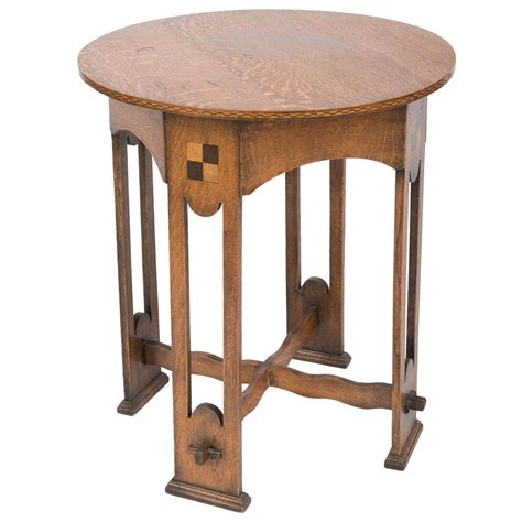 arts and crafts table ls a lovely arts and crafts oak occasional table at 1stdibs