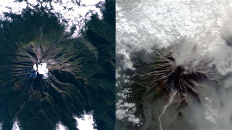 foto el antes  despues del volcan calbuco desde vista