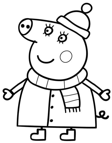 disegni da colorare e stare peppa pig peppa pig in inverno da colorare cose per crescere
