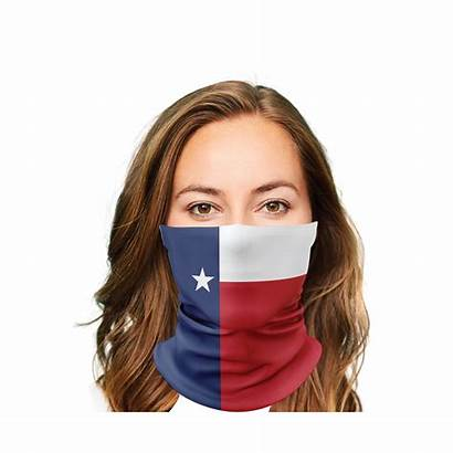 Texas Mask Flag Gaiter Face Pilot Fighter