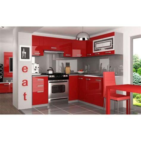 cuisine equipee complete justhome lidja l pro l cuisine équipée complète 190x170 cm couleur laqué haute brillance