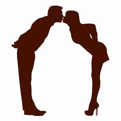 Silhouette Silueta Couple Beso Pareja Kissing Linda