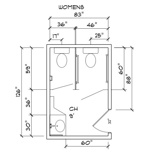 convert  standard public bathroom
