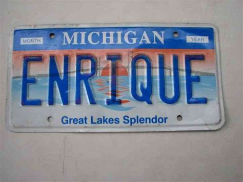mi vanity plate illinois michigan canal 1995 rendezvous license plate