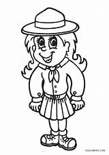 Scout Coloring Pages Printable Daisy Law Cool2bkids Scouts Printables Brownie Birthday sketch template