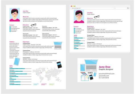 vector curriculum vitae graphic designer free