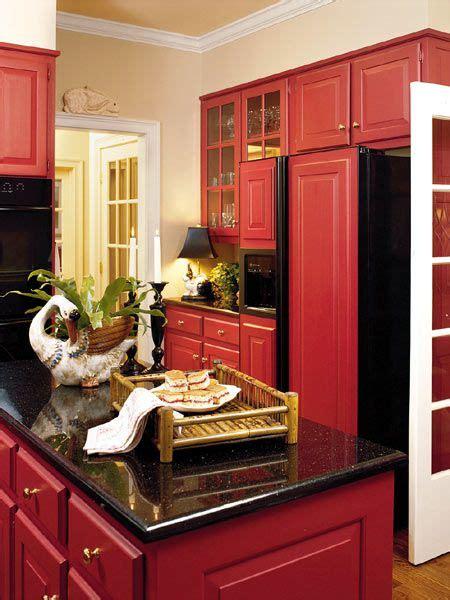 Red, #red Kitchen  Decorating Ideas  Pinterest  Black