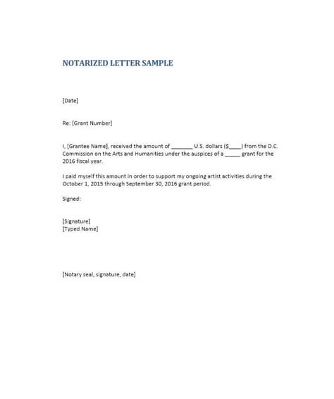 notary letters sample ownerletterco