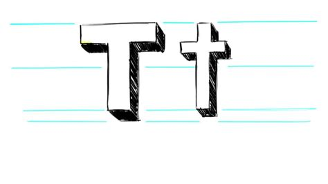 how to draw 3d letters p uppercase p and lowercase p in how to draw 3d letters t uppercase t and lowercase t in 71177