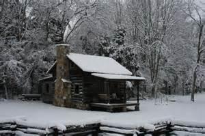 Snowy Christmas Cabin Scenes