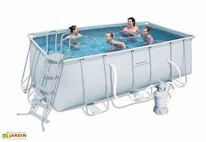 piscine tubulaire hors sol rectangulaire power steel 81m3 With petite piscine tubulaire rectangulaire 18 piscine hors sol bois carree