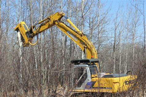 excavator mulching head foremost