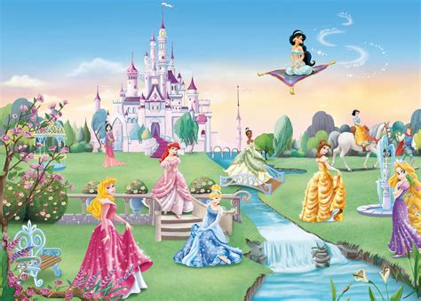 chambre de princesse poster princesses disney le château panoramique komar so nuit