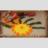 Rangoli Designs With Flowers And Colours | 736 x 414 jpeg 51kB