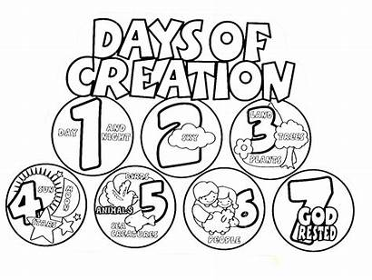 Creation Coloring Days Pages Drawing Gods God