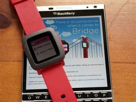 use the pebble smartwatch with blackberry 10 and the bridge app crackberry